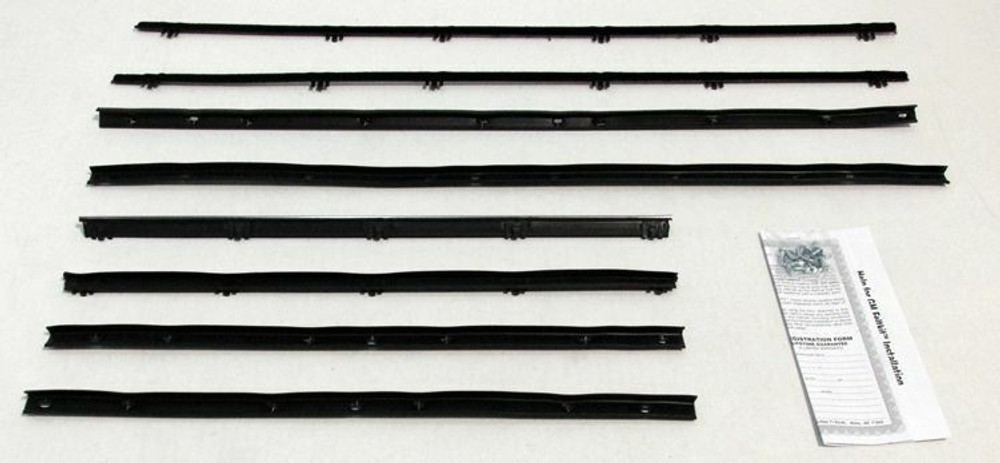 1964 Pontiac GTO-Lemans 2 Door Sedan Window Beltline Weatherstrip 8 pcs