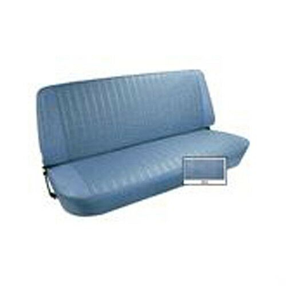 1973-77 FORD F SERIES PICKUP VINYL BENCH SEAT COVER UPHOLSTERY KIT, BLUE