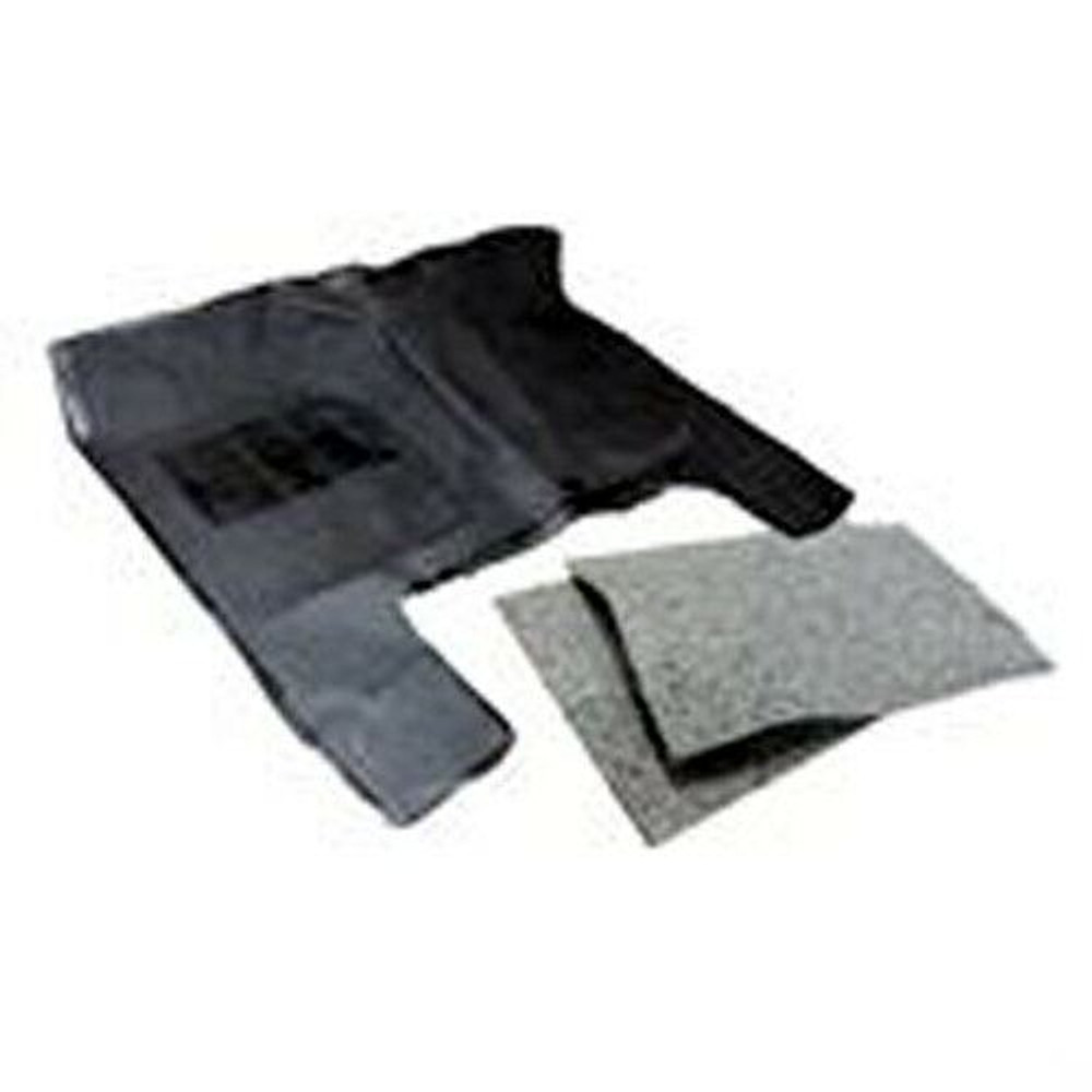 """1973-1979 FORD F SERIES PICKUP RUBBER FLOOR MAT for 8"""" HUMP, w/JUTE INSULATION"""
