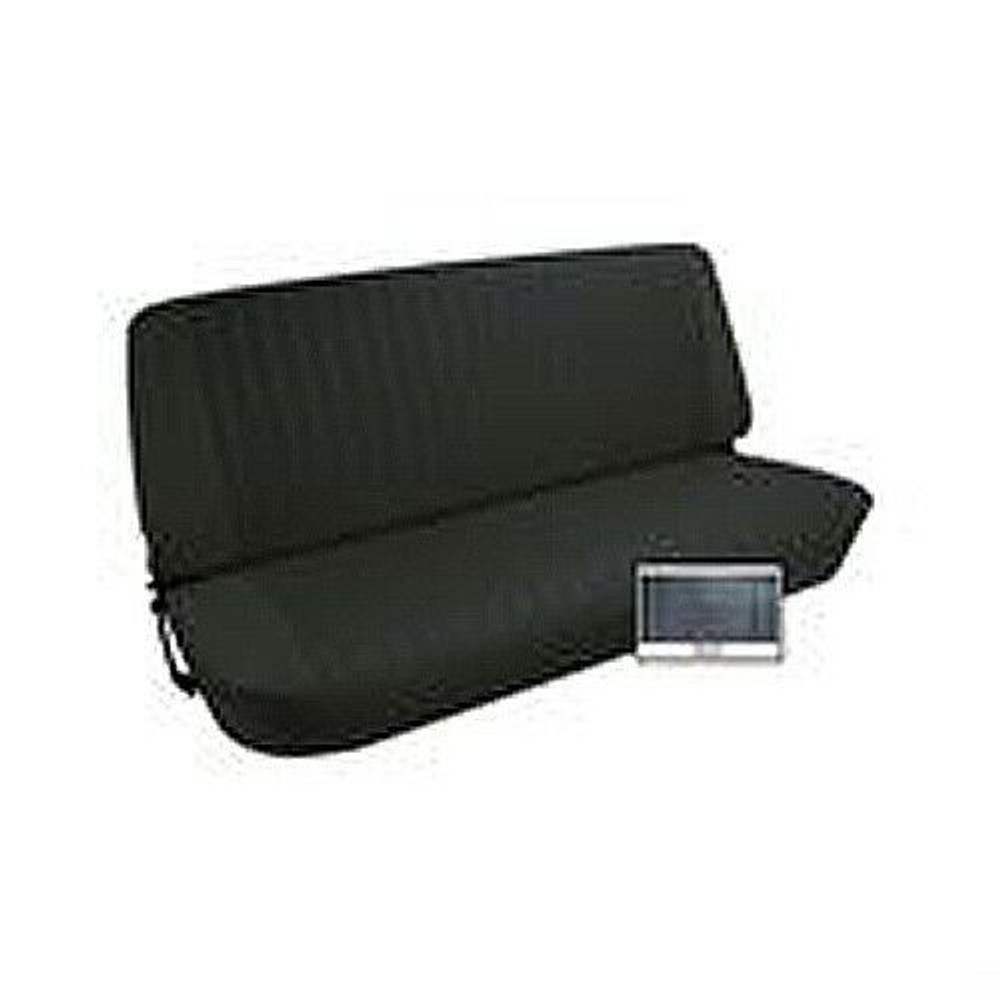 1973-77 FORD F SERIES PICKUP VINYL BENCH SEAT COVER UPHOLSTERY KIT, BLACK