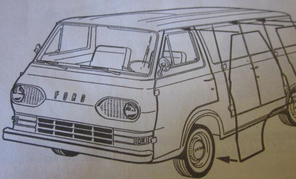 Rear Wheel Arch Quarter Panel fits 61-67 Ford Econoline Van-LEFT