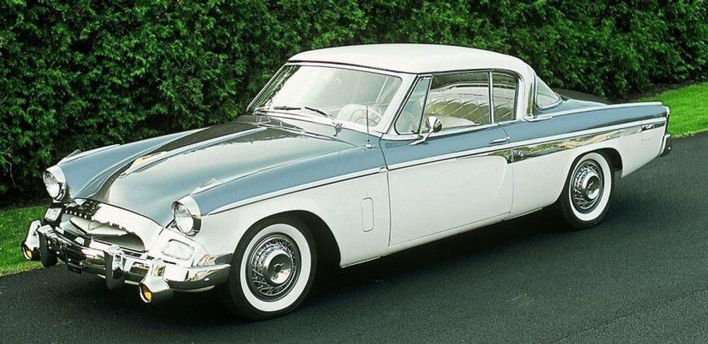 1955 STUDEBAKER SPEEDSTER DASHBOARD, LARGE ENGINE TURNED ALUMINUM, 1PC.