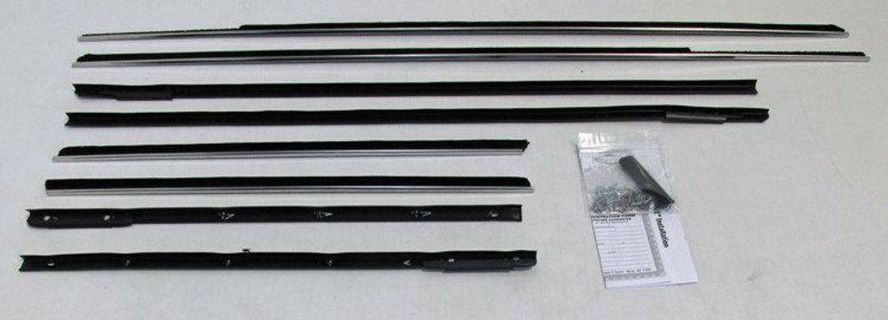 1963-64 CHEVY IMPALA 2 DOOR HARDTOP WINDOW BELTLINE WEATHERSTRIPPING KIT 8 PCS.