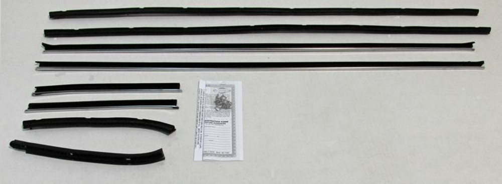1969 1970 COUGAR XR7 COUPE WINDOW WEATHERSTRIP 8pc NEW