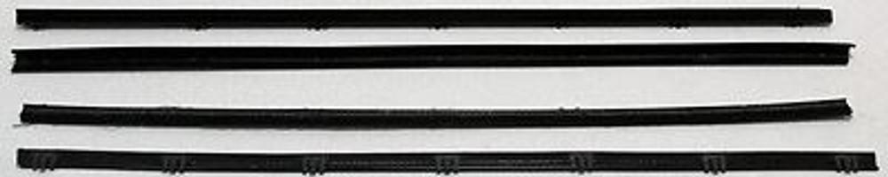 1983-1988 FORD BRONCO II XLT FRONT DOOR BELTLINE WEATHERSTRIP with VENT 4 PCS