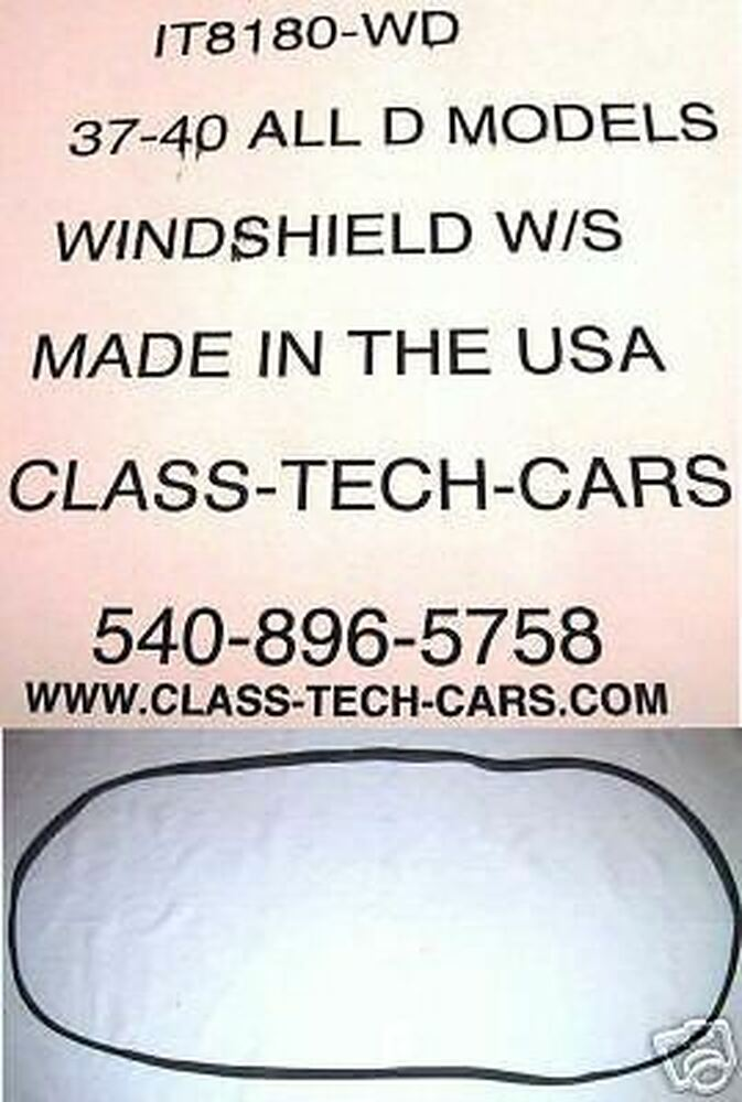 1937 1938 1939 1940 International  Truck D series  windshield seal