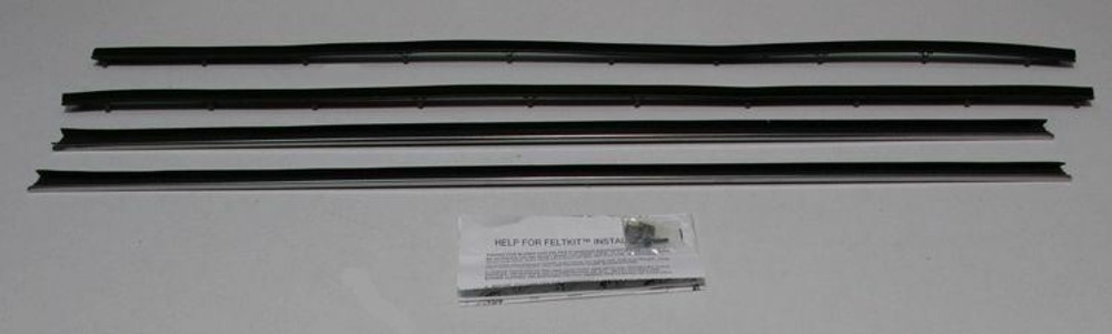 1970-1971 FORD TORINO 2 DOOR HARDTOP WINDOW WEATHERSTRIP, DOORS ONLY, 4 PIECES