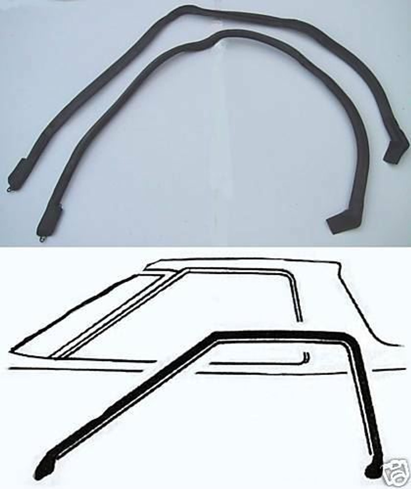 1972 -1976 FORD RANCHERO ROOF RAIL WEATHERSTRIP SEAL PAIR