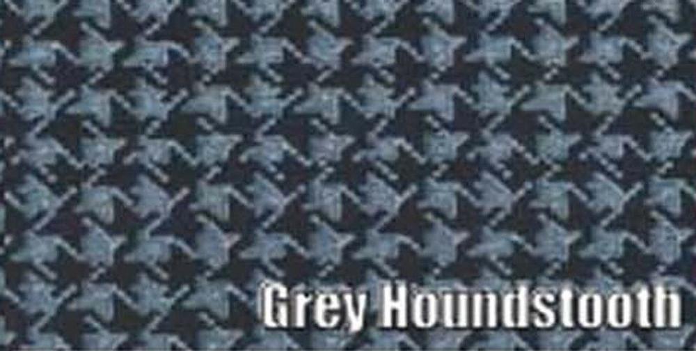 """'68-69 ROADRUNNER&GTX-COUPE&CONVERTIBLE VINYL TRUNK MAT GREY HOUNDSTOOTH 13-1/4"""""""