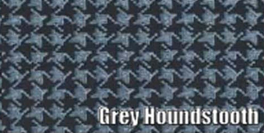 1966-67 PLYMOUTH ROADRUNNER & GTX CONVERTIBLE RUBBER TRUNK MAT, GREY HOUNDSTOOTH