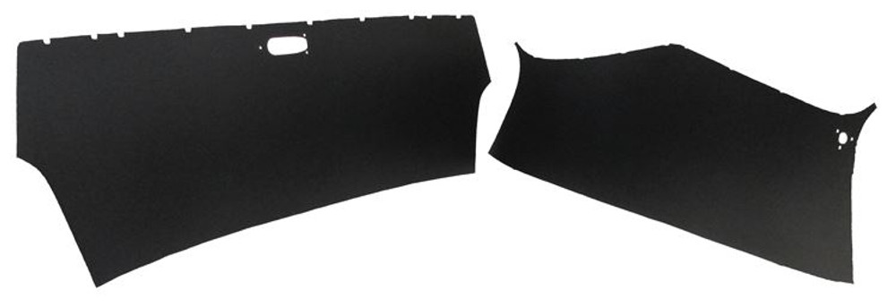 1950-1953 GM PANEL TRUCK HEADLINER, BLACK, 2 PIECES