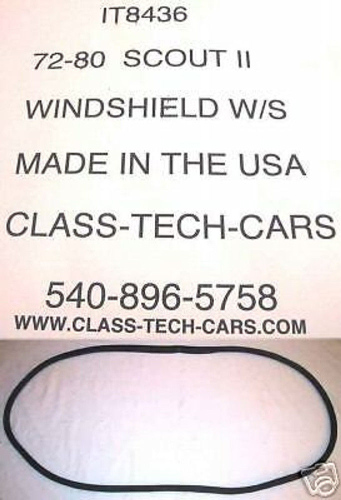 1971-1980 International Harvester Scout II windshield weatherstrip USA made