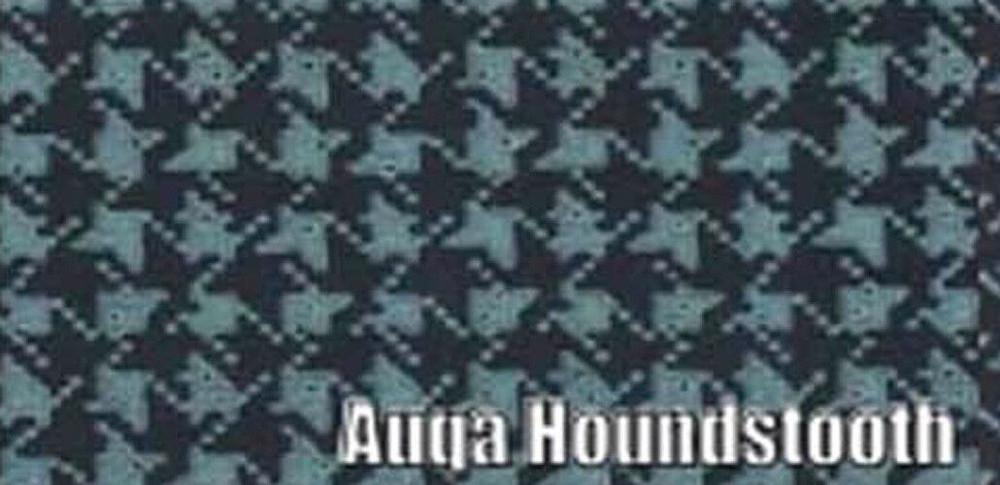 1964-1966 PONTIAC GTO VINYL TRUNK MAT, AQUA HOUNDSTOOTH PRINT 2 PCS.