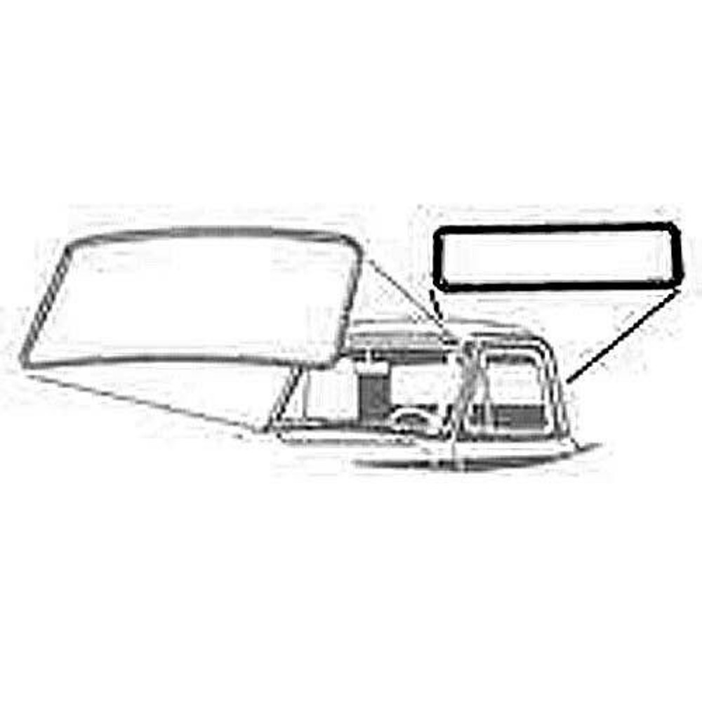 1961-1966 Ford F Series pickup back glass weatherstrip made in the USA