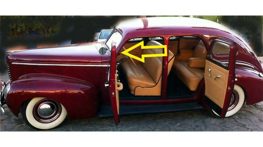 1939 NASH AMBASSADOR GLOVE BOX LINER, BLACK FELT