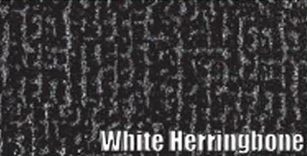 1966-1968 AMC AMERICAN TRUNK MAT, WHITE FELT HERRINGBONE