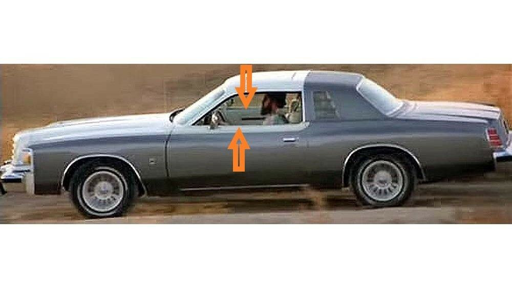 1978-1979 Dodge Magnum window weatherstrip kit, (4 pieces)