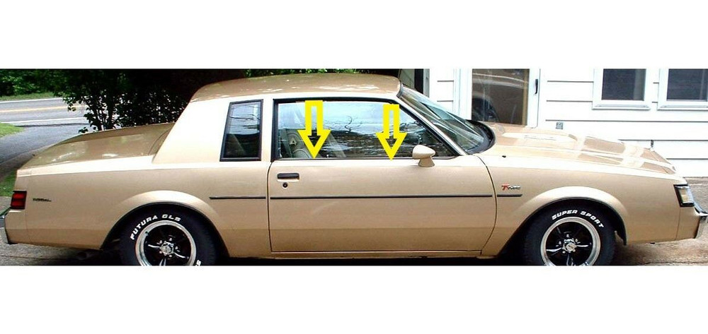 1981-88 Buick Regal 2 door window weatherstrip kit w/special molding, 2 pcs