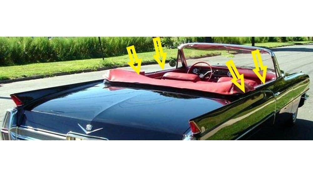 1963-1964 Cadillac Convertible window weatherstrip kit, 8 pcs.