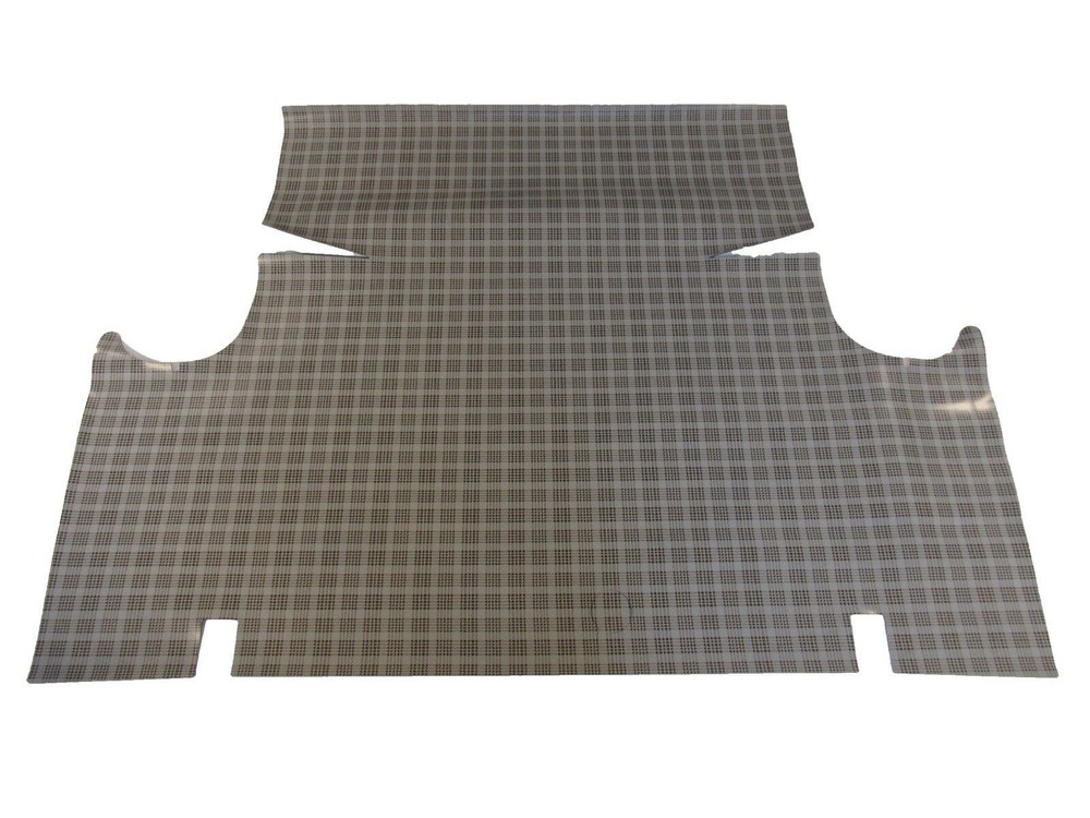 1963 FORD FALCON CONVERTIBLE RUBBER TRUNK MAT, SMALL FORD PLAID