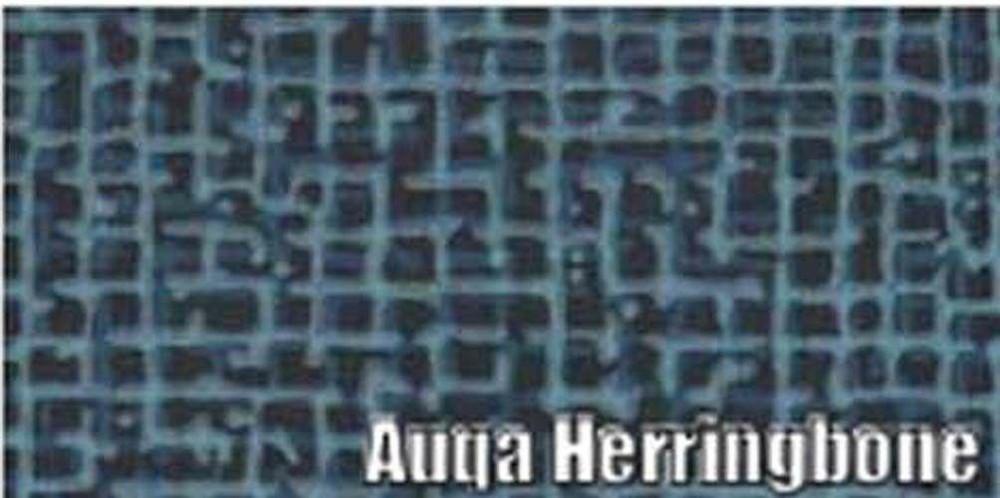 1964 PONTIAC GRAN PRIX RUBBER TRUNK MAT KIT, AQUA HERRINGBONE, 3PCS.