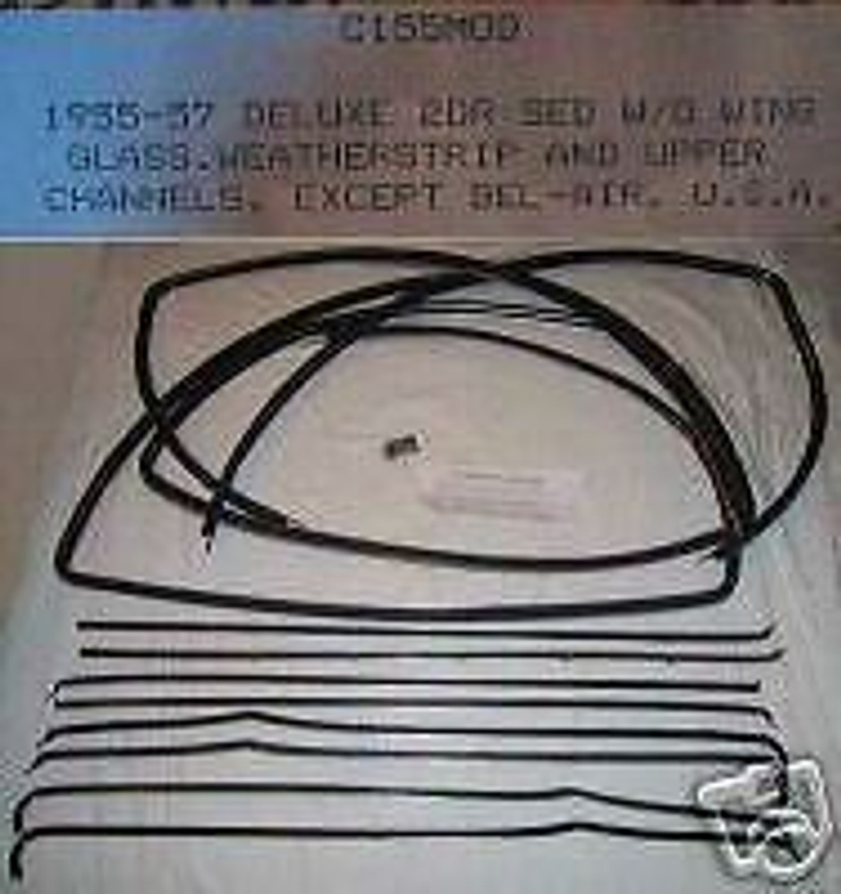 1955 - 1957 CHEVY MOD DELUXE 2dr SEDAN WINDOW WEATHERSTRIP SUPER KIT 14 PC