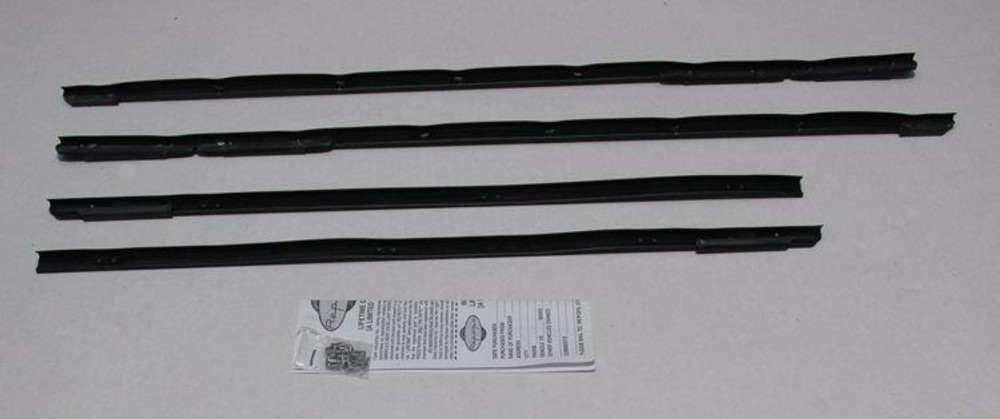 1961-1964 CHEVY BEL AIR & BISCAYNE 2 DR SEDAN OUTER WINDOW WEATHERSTRIP KIT 4PC