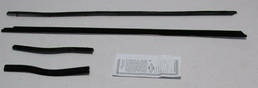 1971-1973 FORD MUSTANG COUPE WINDOW OUTERS ONLY WEATHERSTRIP KIT 4 PCS