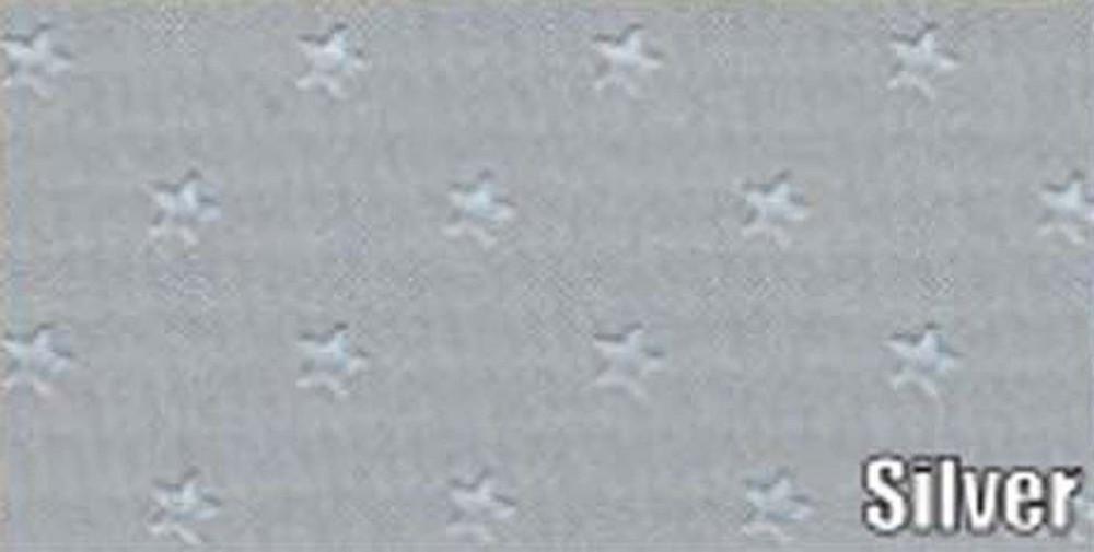 1963-64 GRAN PRIX 5 BOW HEADLINER/SAIL PANEL KIT, STAR PATTERN, SILVER COLOR