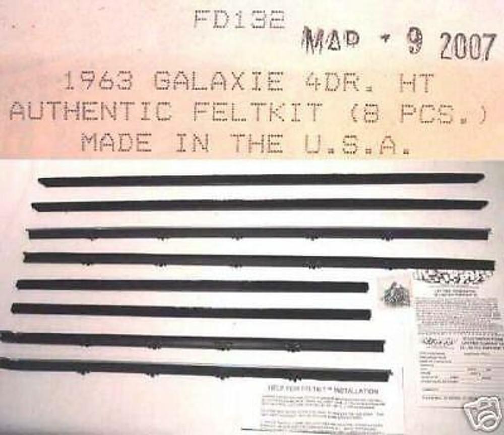 1963 GALAXIE 4 DOOR HARDTOP WINDOW WEATHERSTRIP 8 PIECES