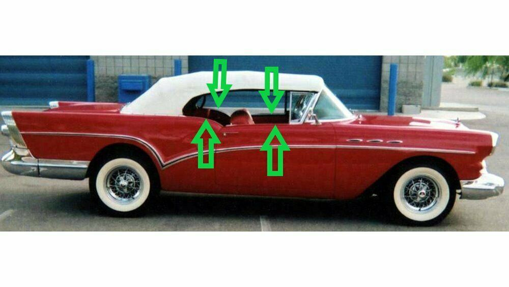 1957 BUICK SPECIAL CONVERTIBLE WINDOW WEATHERSTRIP 8pc