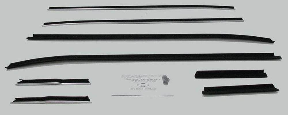 1971-1973 FORD MUSTANG CONVERTIBLE WINDOW WEATHERSTRIP KIT 8 PCS