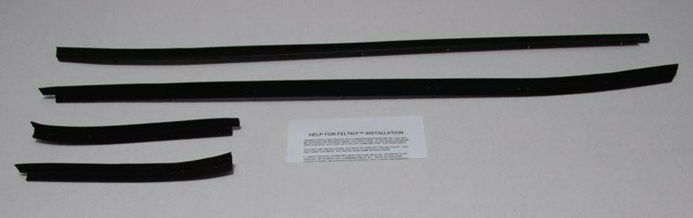 1971-1973 FORD MUSTANG FASTBACK WINDOW OUTERS ONLY WEATHERSTRIP KIT 4 PCS