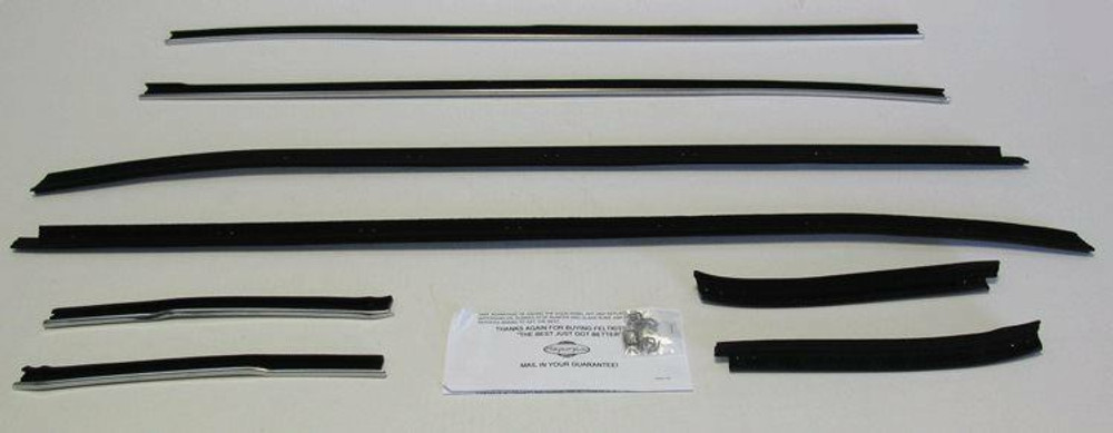 1971-1973 FORD MUSTANG COUPE WINDOW WEATHERSTRIP KIT 8 PCS