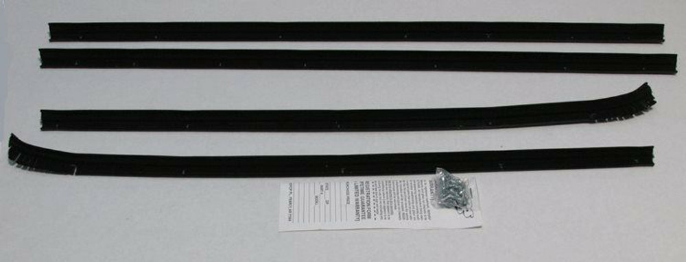 1961 PONTIAC BONNEVILLE 2 DR 'BUBBLETOP' WINDOW OUTER WEATHERSTRIP KIT 4PC