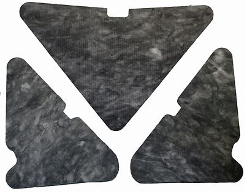 1965-1968 MERCURY  MONTEREY & MONTCLAIR   HOOD INSULATION KIT 3pc INCLUDES CLIPS