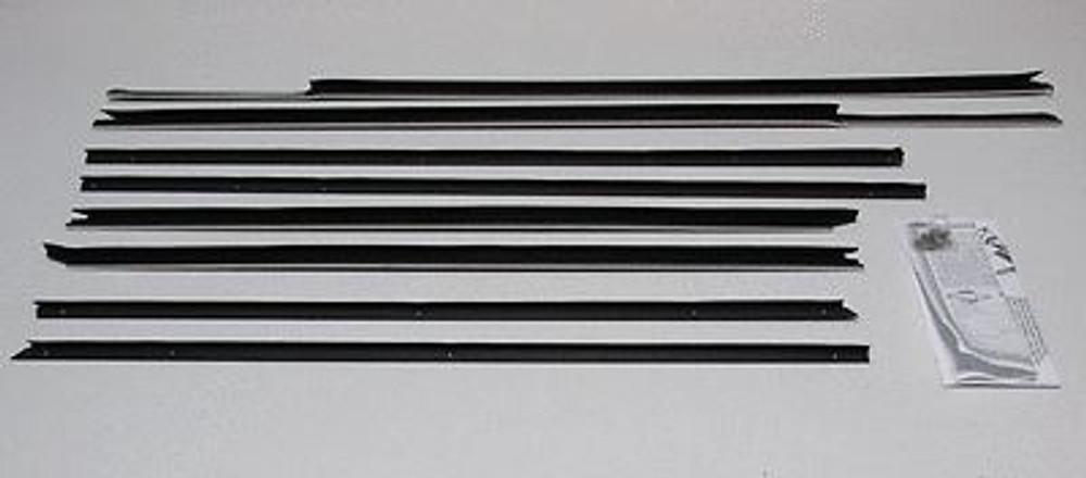 1965 BUICK WILDCAT 2 DOOR HARDTOP WINDOW BELTLINE WEATHERSTRIP 8 PIECES