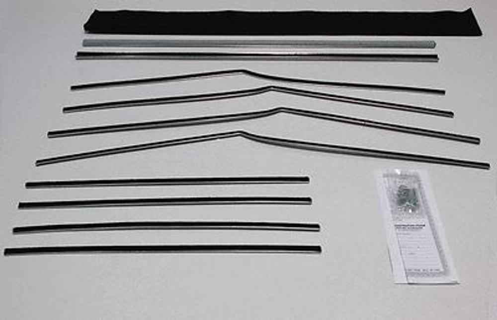 1955-1957 CHEVY BELAIR 4 DOOR HARDTOP WINDOW BELTLINE WEATHERSTRIP KIT 10 PIECES