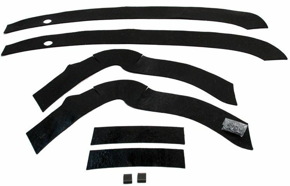 1962-1965 FORD FAIRLANE FRONT FENDER SPLASH SHIELD KIT, 6 PIECES