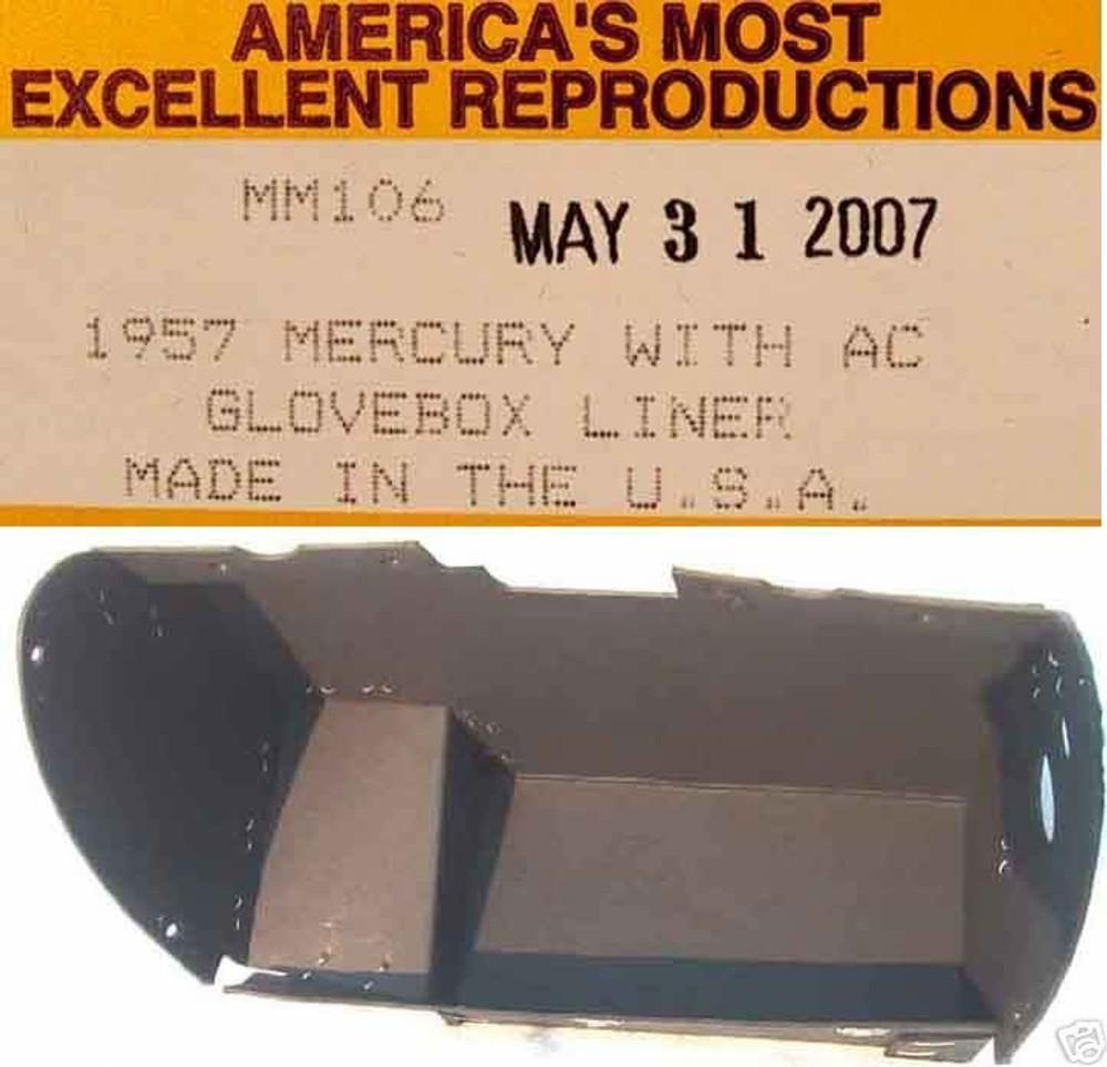 1957 MERCURY MONTEREY MONTCLAIR GLOVE BOX LINER BLACK