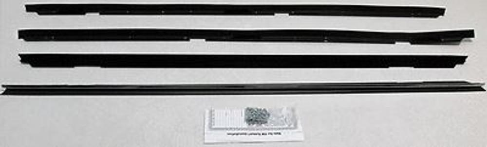 1979-1985 CADILLAC ELDORADO 2dr WINDOW WEATHERSTRIP KIT, 4 PIECES w/CLIPS