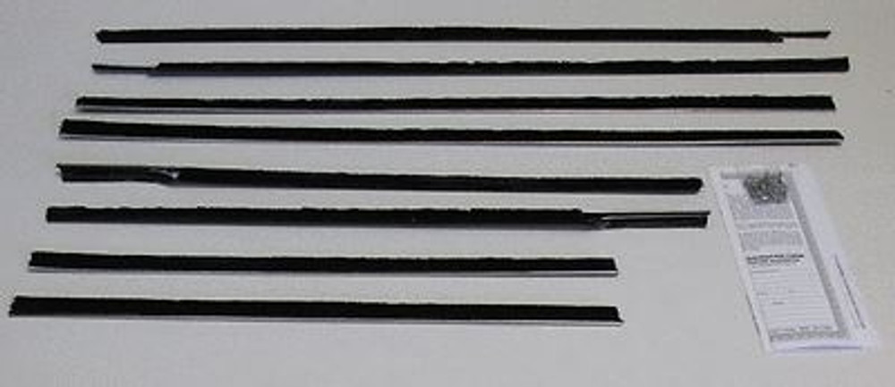 1959-60 CHEVY BEL AIR 4 DOOR HARDTOP WEATHERSTRIPPING KIT (8 PIECES)