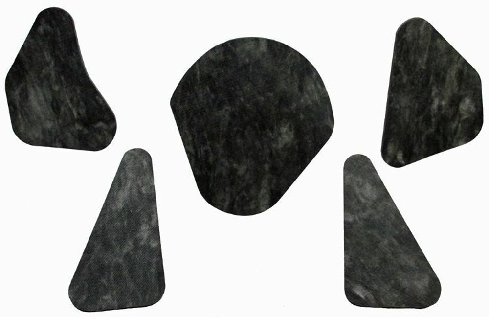 1967 BUICK LESABRE, WILDCAT, ELECTRA  HOOD INSULATION PAD KIT 5pc INCLUDES CLIPS
