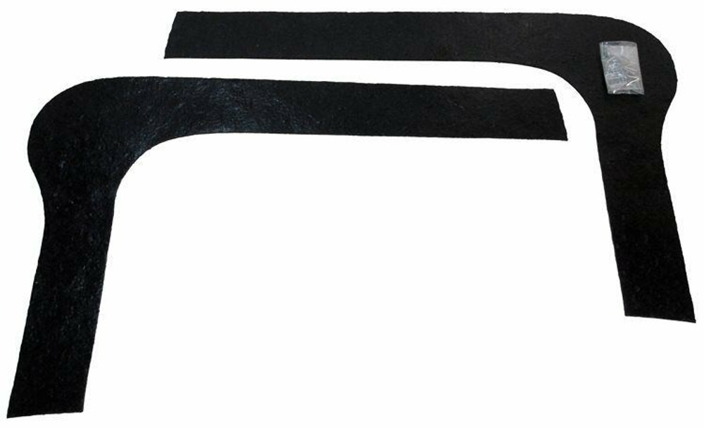 1964-1965 FORD FALCON FRONT FENDER to RADIATOR SPLASH SHIELDS, PAIR