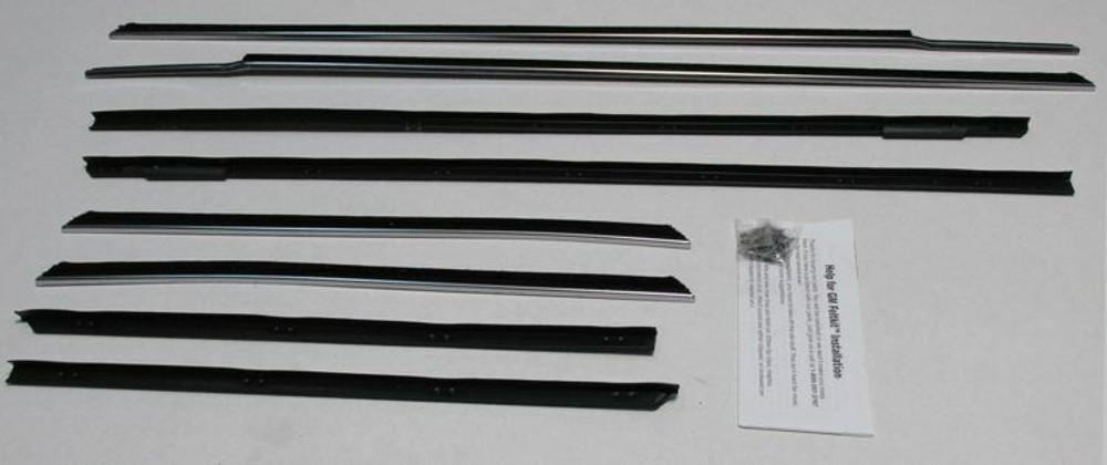 1961 1962 Cadillac Convertible Window Beltline Weathestrip Kit 8 pieces