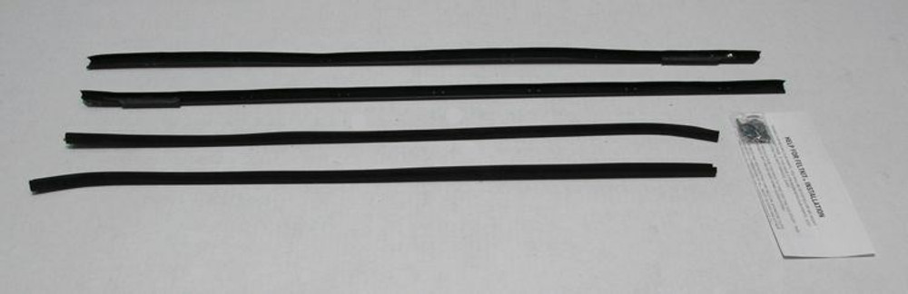 1961 CHEVY CHEVY IMPALA 2 DOOR HARDTOP BELTLINE OUTER WEATHERSTRIPPING KIT (4PC)