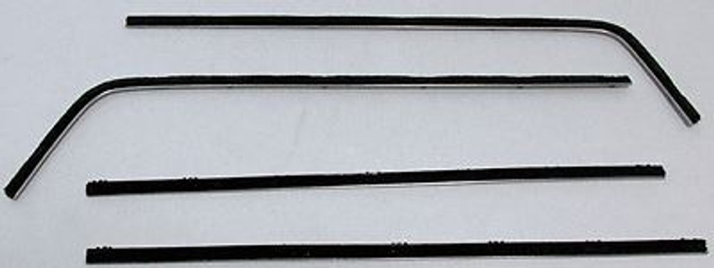 1966-1967 DODGE CHARGER WINDOW BELTLINE OUTERS ONLY WEATHERSTRIP KIT (4 PIECES)