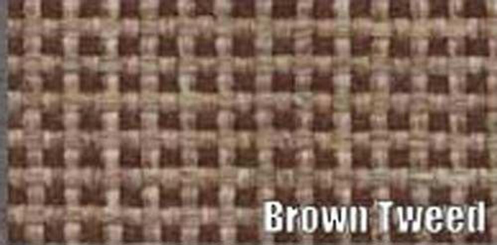 1956 CADILLAC SERIES 62 - 4 DOOR SEDAN BROWN TWEED TRUNK MAT KIT, 7 PCS