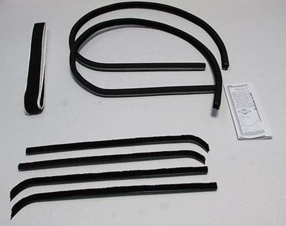 1960-1963 CHEVY TRUCK & C-10  W/ METAL FRAME WINDOW WEATHERSTRIP SUPERKIT 8 PCS