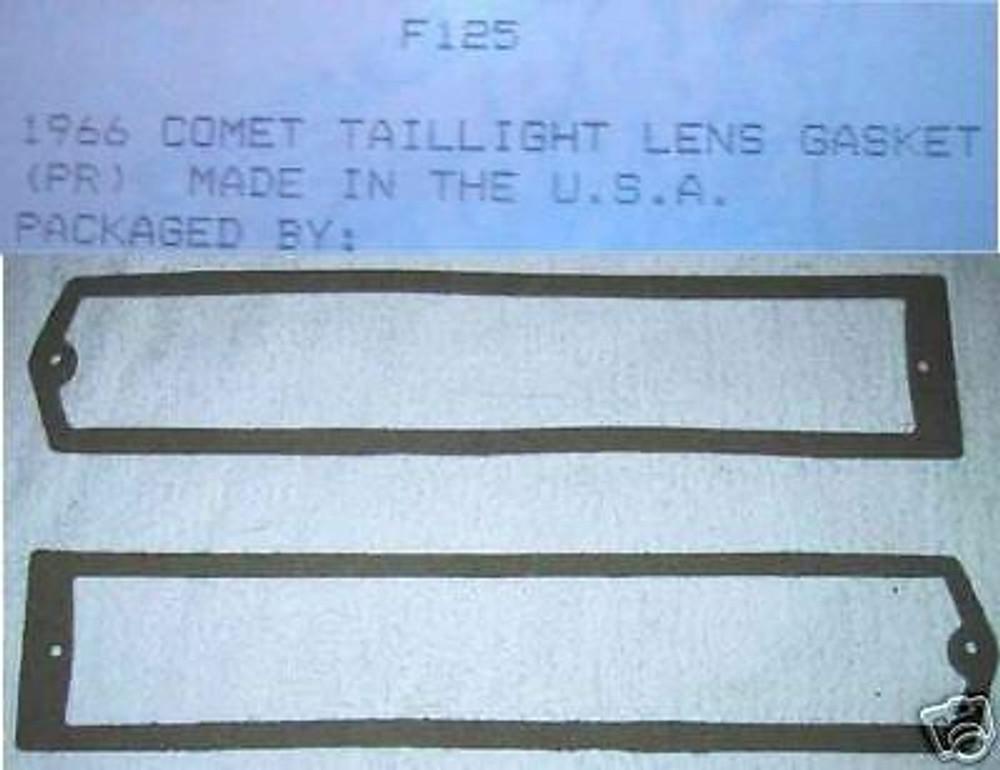 1966 COMET TAIL LAMP LENS GASKET PAIR  NEW
